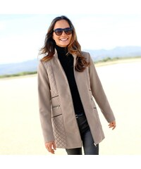 Blancheporte Prošívaný kabát v členitém střihu hnědošedá 42