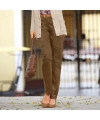 Blancheporte Úzké semišové kalhoty kávová 38