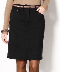 Blancheporte Strečová rovná sukně černá 36