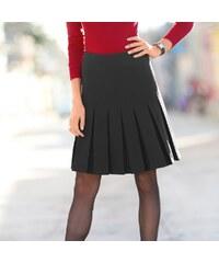 Blancheporte Skládaná bi-strečová sukně černá 36