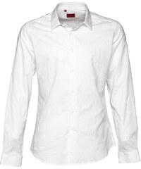 Devil's Advocate Herren Tonal Flower Hemd mit langem Arm Weiß