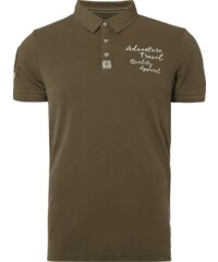 Camp David Poloshirt mit Logo-Aufnäher
