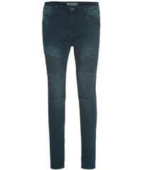 SUBLEVEL Herren Jeans Hose Slim körperbetont schmales Bein blau aus Baumwolle