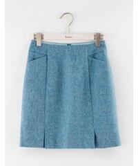 Minirock aus britischem Tweed Blau Damen Boden