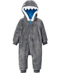 bpc bonprix collection Grenouillère bébé en polaire gris enfant - bonprix