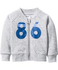 bpc bonprix collection Gilet sweat bébé en coton bio gris manches longues enfant - bonprix
