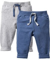 bpc bonprix collection Lot de 2 pantalons sweat bébé coton bio gris enfant - bonprix