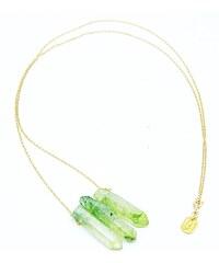 Secrets Des Anges Anoki - Sautoir en plaqué or avec Quartz - vert clair