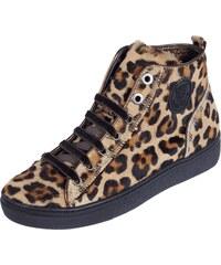 Marc Cain Bags & Shoes Sneaker aus echtem Leder mit Fellbesatz