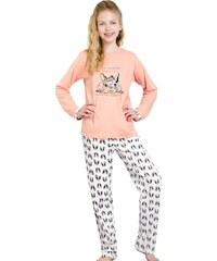 Taro Dívčí pyžamo Míša lososové