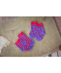 Blade & Rose Dívčí ponožky s proužky a puntíky - fialové