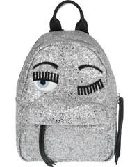 Chiara Ferragni Sacs à Bandoulière, Flirting Backpack Glitter Silver en argent