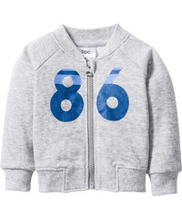 bpc bonprix collection Baby Sweatjacke Bio-Baumwolle langarm in grau von bonprix