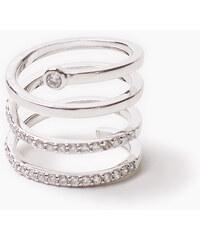 Esprit Prsten, tvar spirály, šterlin. stříbro a zirkony