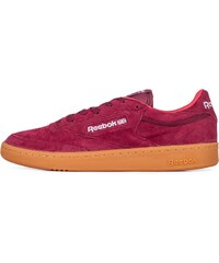 Sneakers - tenisky Reebok CLUB C 85 INDOOR BURGUNDY/RIOT RED/BL