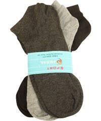 Pesail Pánské jednobarevné ponožky 3 páry 40-43 MIX