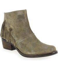 Boots Femme Kanna en Cuir velours Beige