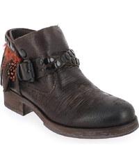 Boots Femme Métisse en Cuir Marron