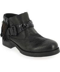 Boots Femme Métisse en Cuir Noir