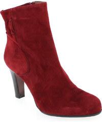Boots Femme Rosemetal en Cuir velours Rouge