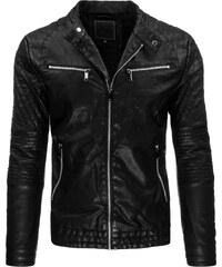 Coolbuddy Pánská černá bunda z ekologické kůže 8979 Velikost: M