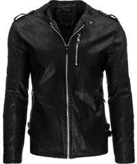 Coolbuddy Pánská bunda z ekologické kůže černé barvy 8980 Velikost: M