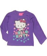 E plus M Dívčí tričko Hello Kitty - fialové