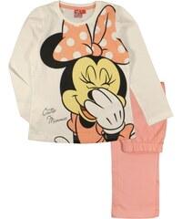 E plus M Dívčí pyžamo Minnie - bílo-oranžové