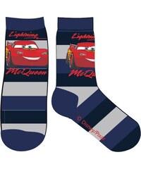 E plus M Chlapecké pruhované ponožky Cars - modré