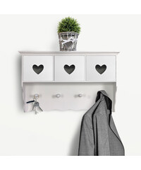 Lesara Wandgarderobe mit Schubladen im Herz-Design