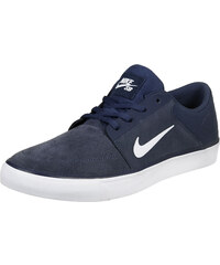 Nike Sb Portmore chaussures navy/white/brown