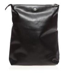 Suncoo Clutch - aus schwarzem Leder