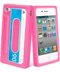 Muvit Coque rose en silicone pour iPhone 4/4S - rose