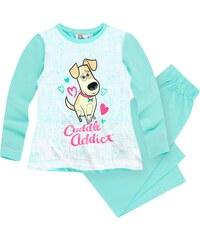 Pets (Secret Life of Pets) Pyjama mintgrün in Größe 104 für Mädchen aus 100% Baumwolle
