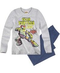 Ninja Turtles Pyjama blau in Größe 116 für Jungen aus Oberteil: 95% Baumwolle 5% Viskose Hose: 100% Baumwolle