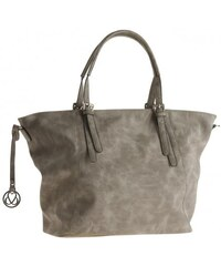Michèle Boyard Damen Shopper Handtasche grau aus Kunstleder