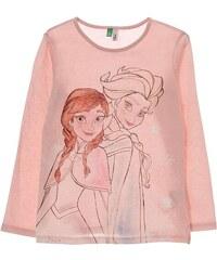 Benetton T-shirt à manches longues en coton - rose clair