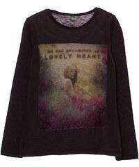 Benetton T-shirt à manches longues en coton - plomb