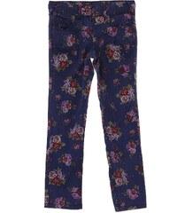Benetton Pantalon en coton mélangé - bleu floral