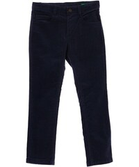 Benetton Pantalon en velours - bleu marine