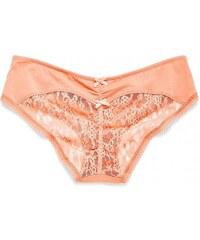 Victoria's Secret Pohodlné kalhotky Heart Lace Ruched-Back Hiphugger Panty