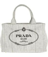 Prada Sacs à Bandoulière, Denim Shopping Bag Bianco en blanc