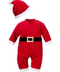 bpc bonprix collection Grenouillère Papa Noël + bonnet (Ens. 2 pces.) rouge manches longues enfant - bonprix