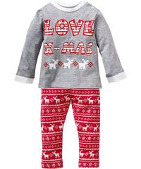 bpc bonprix collection T-shirt manches longues bébé + pantalon (Ens. 2 pces.) gris enfant - bonprix