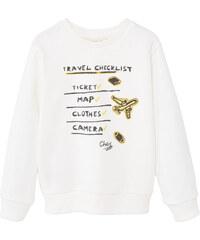 MANGO KIDS Gemustertes Baumwoll-Sweatshirt