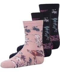 Ewers 3 PACK Socken dunkelblau/rosa