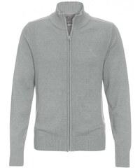 COOL CODE Herren Strickjacke Cardigan grau aus Baumwolle
