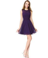 Ever Pretty fialové šaty-skladem