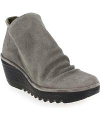 Boots Femme Fly London en Cuir velours Marron