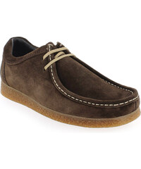 Chaussures à lacets Homme Base London en Cuir velours Marron
